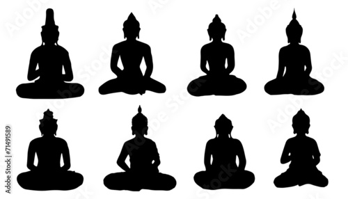 buddha silhouettes - 71491589