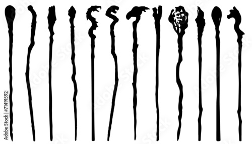 magic staff silhouettes - 71491592