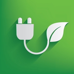 Ecology energy on green background,clean vector