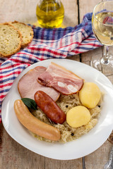 French traditional cabbage meal choucroute