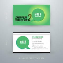 Modern simple business card template