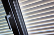 canvas print picture - Jalousien als Sonnenschutz am Fenster