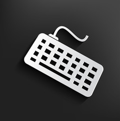 Keyboard symbol on black background,clean vector