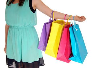 Girl holding shopping bag's.