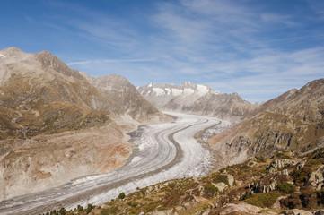 Bettmeralp, Dorf, Walliser Berge, Aletsch, Gletscher, Schweiz