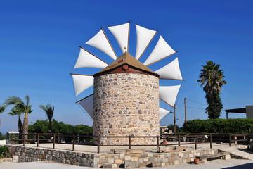 old windmill in Antimachia on Kos island, Greece