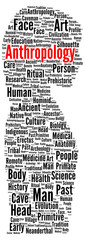 Anthropology word cloud shape
