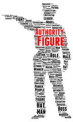 Authority figure word cloud shape