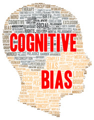 Cognitive bias word cloud shape