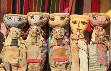 Colorful Peruvian handicraft