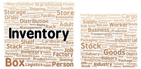 Inventory word cloud shape