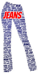 Jeans word cloud shape