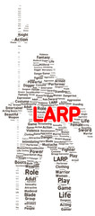 LARP word cloud shape