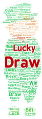 Lucky draw word cloud shape