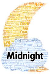 Midnight word cloud shape