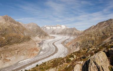 Bettmeralp, Dof, Aletsch, Gletscher, Alpen, Wallis, Schweiz