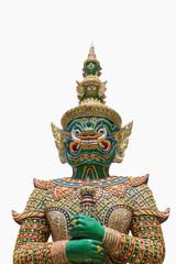 Ravana giant statue isolate with white, public statue at Bangkok