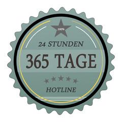 ql54 QualityLabel - 24 Stunden 365 Tage Hotline - türkis g2031