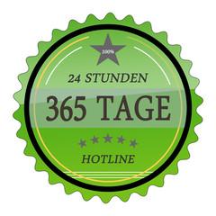 ql55 QualityLabel - 24 Stunden 365 Tage Hotline - grün g2032