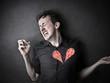 Broken-hearted man