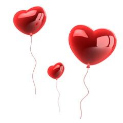 Love Heart Balloon in white background