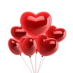 Love Heart Balloon in white background