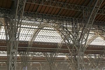 Detailaufnahme vom Bahnhof Leipzig