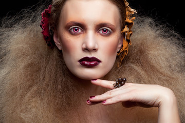 Halloween Beauty woman makeup