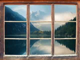 Blick aus dem Fenster - Dolomiten