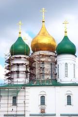 Dormition orthodox church. Kremlin in Kolomna, Russia.