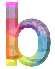 renkli b harfi tasarımı