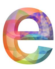 renkli e harfi tasarımı