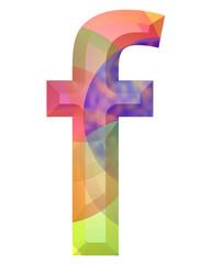 renkli f harfi tasarımı