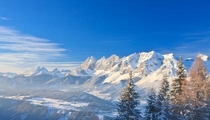 Mountain landscape. Schladming. Austria