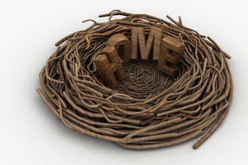 Home word in the nest