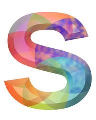 renkli s harfi tasarımı