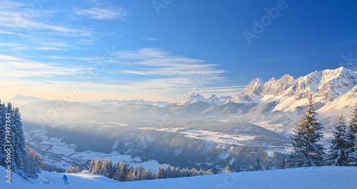 canvas print picture Mountain landscape. Schladming. Austria