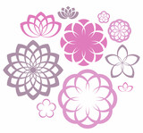 Flower. Icon Set