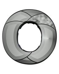 gri siyah renkli o harfi tasarımı