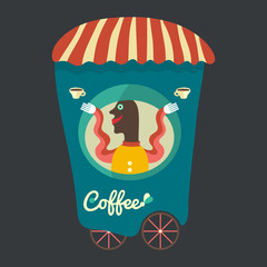 Coffee seller.
