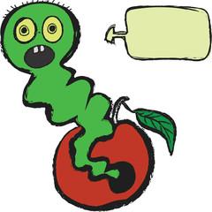worm and speech balloon