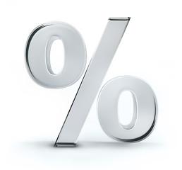 Prozentzeichen aus Glas
