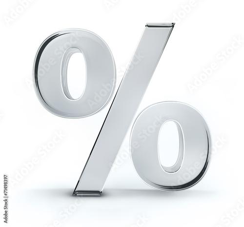 canvas print picture Prozentzeichen aus Glas
