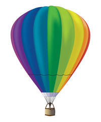 Vector hot-air balloon
