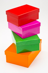 Stack of gift boxes.