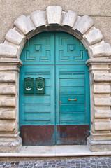 Wooden door. Satriano di Lucania. Italy.