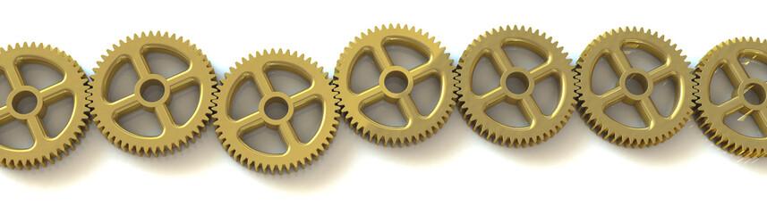Zahnradkette Gold
