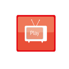 play button with tv