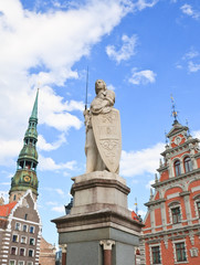Town Hall Square, the statue of Roland, the House of Blackheads,