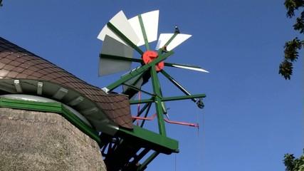 """Windrose der Holländermühle """"Gott mit uns"""" in Eddelak"""